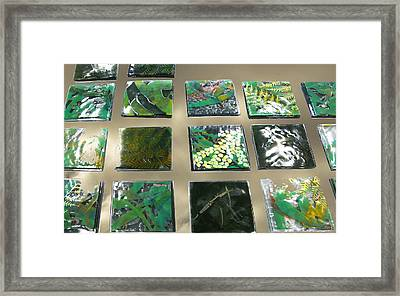 Rainforest Tile Prints Framed Print by Sarah King