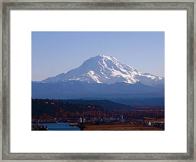 Framed Print featuring the photograph Rainier 3 by Sean Griffin