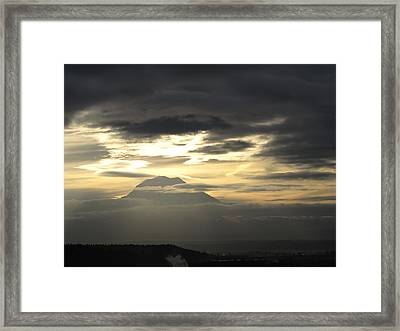 Framed Print featuring the photograph Rainier 4 by Sean Griffin