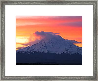 Framed Print featuring the photograph Rainier 6 by Sean Griffin