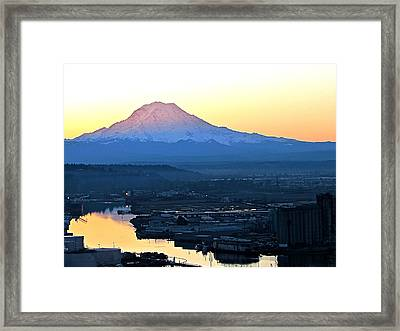 Framed Print featuring the photograph Rainier 7 by Sean Griffin