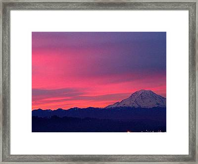 Framed Print featuring the photograph Rainier 9 by Sean Griffin