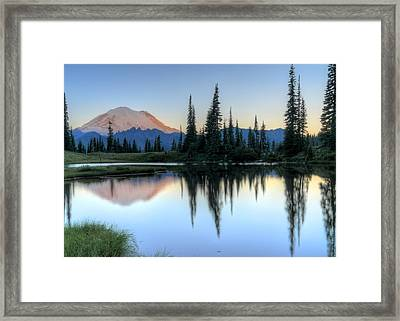 Rainier From Tipsoo Framed Print