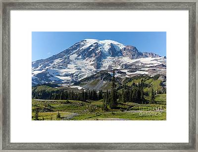 Rainier Mazama Ridge Framed Print by Mike Reid