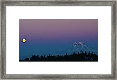 Rainier Moonrise Framed Print