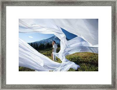 Framed Print featuring the photograph Rainier Ribbons by Dario Infini