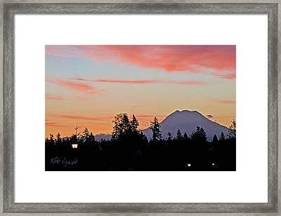 Rainier Sunrise Framed Print
