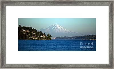 Rainier Vista Framed Print by Mike Reid