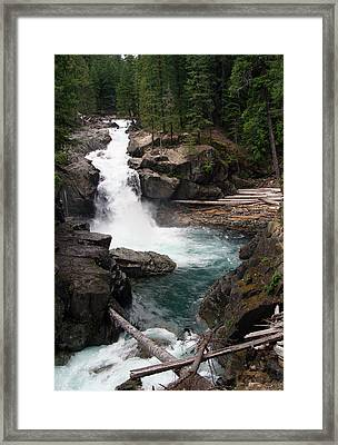 Rainier Waterfall Framed Print by Ty Nichols