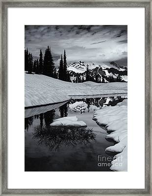 Rainier Winter Reflections Framed Print
