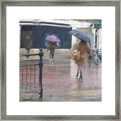 Raining All Around Framed Print