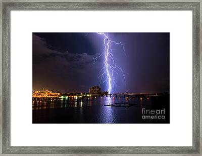 Raining Bolts Framed Print