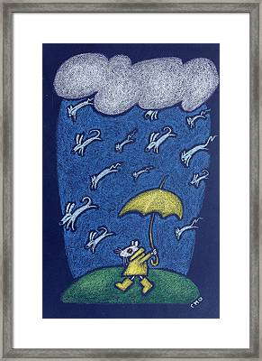Raining Cats And Dogs Framed Print by wendy CHO
