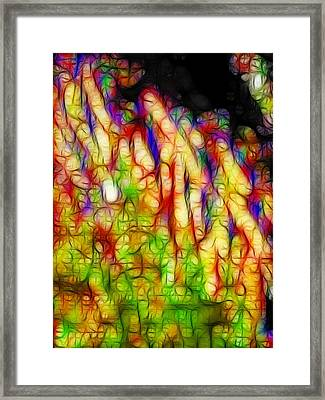 Raining Cats And Dogs Framed Print by Wingsdomain Art and Photography