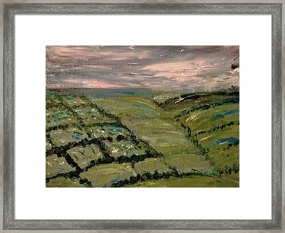 Framed Print featuring the painting Raining by Evelina Popilian