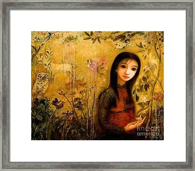 Raining Garden Framed Print by Shijun Munns