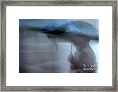 Raining In New Orleans Framed Print by Kathleen K Parker