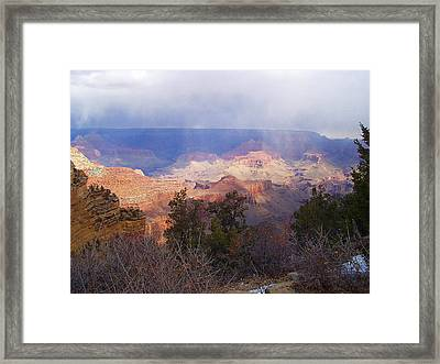 Raining In The Canyon Framed Print by Marna Edwards Flavell
