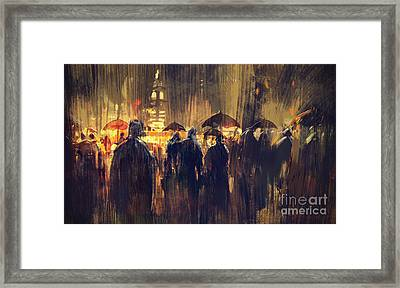 Raining Framed Print