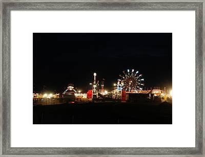 Rainmaker Rodeo Framed Print by Marj Beach