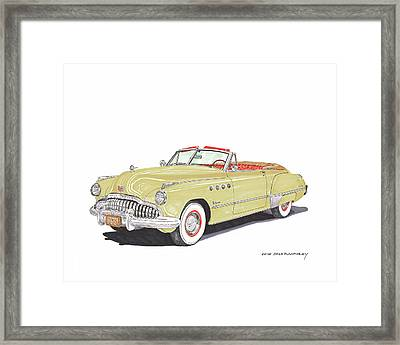 Rainman Buick Roadmaster Framed Print by Jack Pumphrey