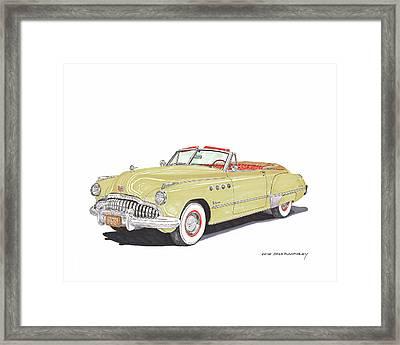 Rainman 1949 Buick Roadmaster Framed Print