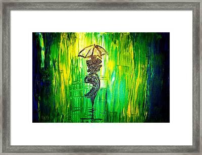 Rainning Green Framed Print by Piety Dsilva