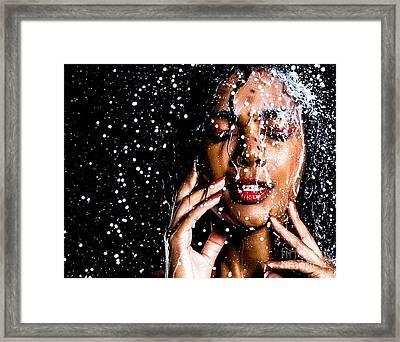 Rainning Framed Print