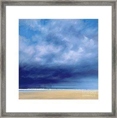 Rainstorm Off Holkham Beach  Framed Print