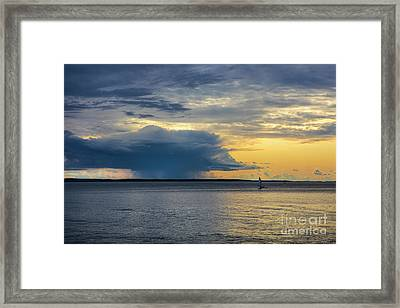 Rainstorm Offshore Framed Print