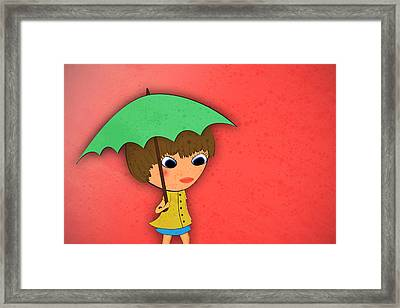 Rainy Framed Print by Abbey Hughes