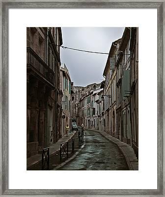 Rainy Arles Framed Print
