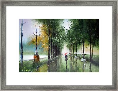 Rainy Autumn Framed Print