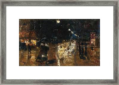 Rainy Berlin Street Framed Print
