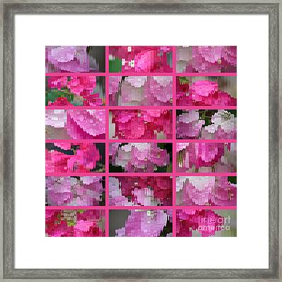 Rainy Day Abstract Framed Print by Carol Groenen