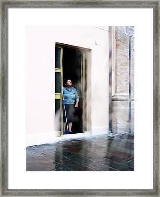 Rainy Day Framed Print by Artecco Fine Art Photography
