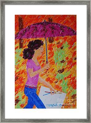 Rainy Day Artist Framed Print