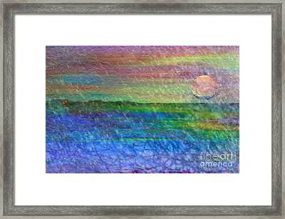 Rainy Day At The Beach Framed Print by Penfield Hondros