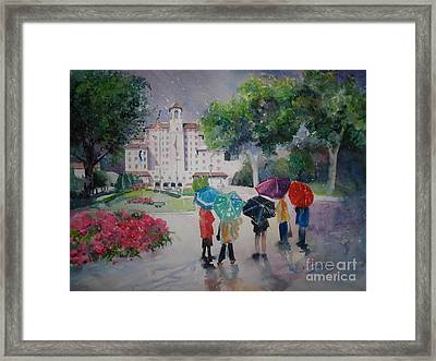 Rainy Day At The Broadmoor Hotel Framed Print by Reveille Kennedy