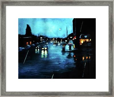 Rainy Day Framed Print by Chris Bahn