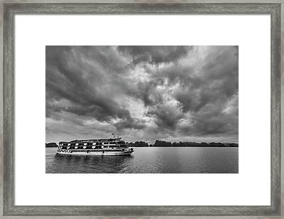 Framed Print featuring the photograph Rainy Day Cruise by Hitendra SINKAR