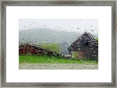 Rainy Day Farm Framed Print