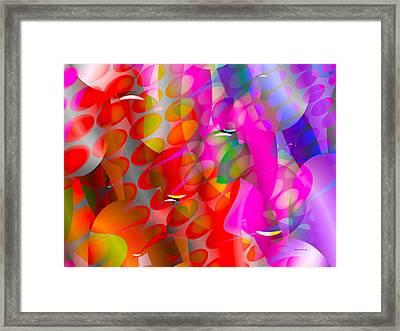 Framed Print featuring the digital art Rainy Day Girl by Robert Orinski