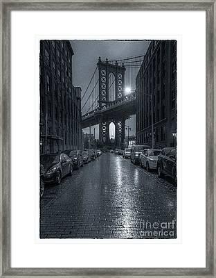 Rainy Day In Brooklyn Framed Print by Marco Crupi