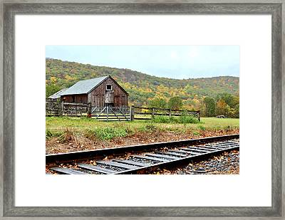 Rainy Day In Kent Framed Print