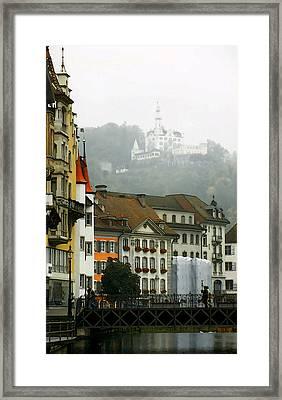 Rainy Day In Lucerne Framed Print by Linda  Parker