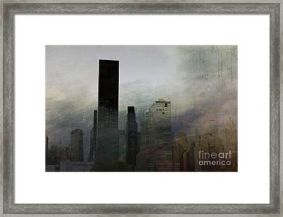 Rainy Day In Manhattan Framed Print by Marcia Lee Jones