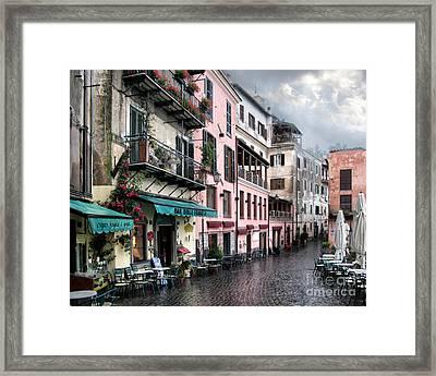 Rainy Day In Nemi. Italy Framed Print by Jennie Breeze