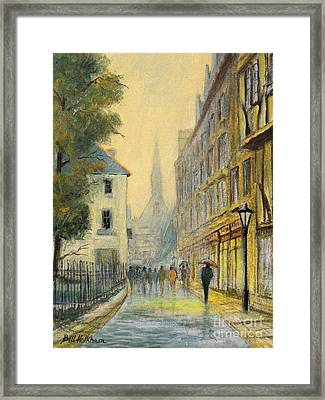 Rainy Day In Oxford Framed Print