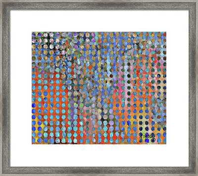 Rainy Day In The Garden Framed Print